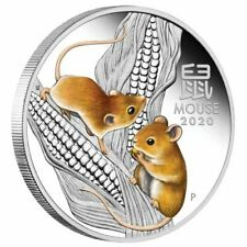 2020 Australia Lunar Year of the Mouse Colorized 1/2 oz .9999 Silver Coin - NEW