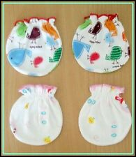 100% COTTON 2 NEW SET MITTENS GLOVES AND SOCKS NEW BORN BABY 0-6 MONTHS
