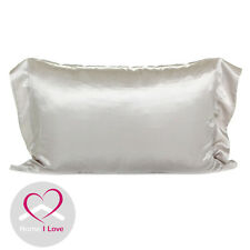 Mulberry Silk Set of 2 Pillowcases 19mm Pearl Grey AntiAgeing 70x48x5 cm
