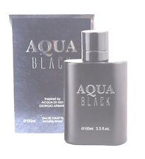 Aqua Black Perfume Eau de Toilette Parfum  Men 3.3 oz BRAND NEW IN SEALED BOX