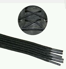 Round Boot Heavy Duty Shoelaces - 40 Inch - Boot Strings Laces black 2 pairs