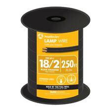 ZIP-LINE-18/2-BLK- 250ft Black 18/2 Lamp Wire for use with Add A Taps