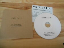 CD Indie Exit Calm - Future Isn't What It Used To Be (9 Song) Promo CLUB AC30