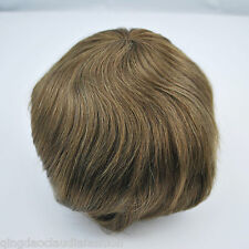 light brown human hair replacement for men mens toupee hairpiece lace front tape