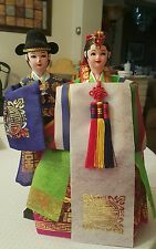 Chinese couple doll set figurine home decor collectible asian
