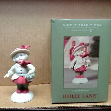 Dept 56 Simple Traditions Holly Lane A Little Holly Basket Christmas Collectible