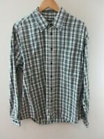 Wrangler Mens Shirt Size XL Long Sleeve Button Up Regular Fit Grey White Plaid