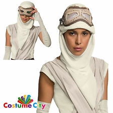 Official Star Wars Force Awakens Rey Eye Mask Hood Fancy Dress Costume Accessory