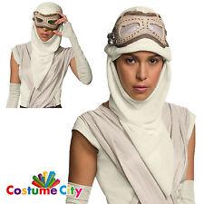 Official Star Wars Force Awakens Rey Eye Mask Hood Fancy Dress Costume Accessory