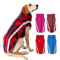 Large Dog Waterproof Clothes Pet Doggie Coat Reflective Jacket for Boxer XL-6XL