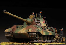 Award Winner Built Diorama 1/35 Ardennes Front Peiper's King Tiger 204 +Bike