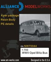 Alliance Model Works 1:700 WWII German Opel Blitz Bus (4pcs) #NW70044