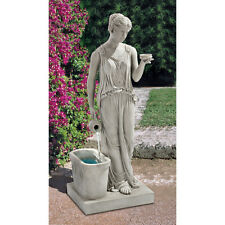 """37.5"""" Ancient Greek Goddess of Youth & Beauty Garden Yard Water Feature Fountain"""