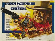 Chisum (1970) John Wayne cult western movie poster print 2