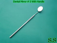 20 Inspection mirror # 5 with handle dental mirror new