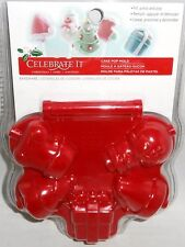 Holiday Cake Pop Mold  5 Molds    Santa Hat,Snowman,Christmas Tree,Stocking,Gift