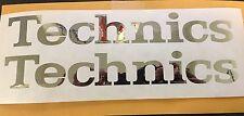 "2 TECHNICS CHROME VINYL STICKER  DECAL DJ TURNTABLES Serato 10""X1.4"""