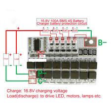 16.8V 100A 4S Li-Ion BMS PCM 4.2V Tablero de polímero de litio de balance de carga Pack
