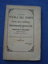VALLE-NUOVA SCUOLA DEL TEMPO-SCIENZA DELLA CRONOLOGIA-CALENDARIO PERPETUO-1865