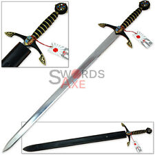 Knights Templar Royal European Medieval Excalibur Claymore Cosplay Replica Sword
