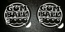 "2 New  Black ""GUM BALL 3000"" Rally Racing Decal Sticker,  4 X 4 IN."