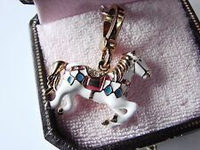 Juicy Couture Charm Bracelet Carousel Horse Charm w/ gold clip NWT