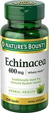 Nature's Bounty Echinacea 400 MG Natural, 100 Each