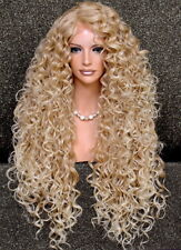Exotic Extra Long Extra Full Tight Curly Wig Blonde  Mix Heat Safe DOM 27-613