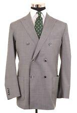 LBM 1911 Vitale Barberis Wool Mid Gray UNLINED 2pc Suit Jacket Pants 44 L