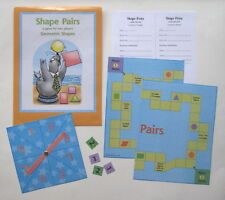 Evan Moor Math Center Educational Resource 2 Player Game Goemetric Shapes