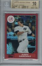 GARY SANCHEZ 2017 Topps '87 Topps Silver Pack Chrome Red #2/5 PRISTINE 10  D5354