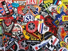 Iron On Patch Wholesale Mix Car Racing Auto Motorcycle Biker Embroidered 50 pcs