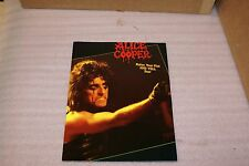 Vintage 1988 Alice Cooper Raise Your Fist and Yell Tour Program Book with News