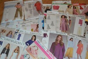 DRESS MAKING SEWING PATTERNS: SIMPLICITY, NEW LOOK, BUTTERICK, VOGUE & McCALL
