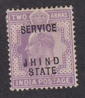 India - Jhind Jind - KEVII  1903 - 2A Service - Mint Hinged (B10G)