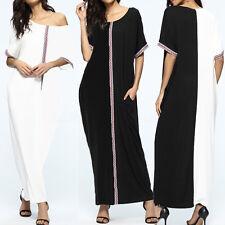 ZANZEA AU 8-24 Women Oversized Boho Embroidery Crochet Long Maxi Shirt Sun Dress