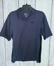 Nike Men's size Small Dri-Fit Golf Polo Shirt Textured Gray & Black 432107