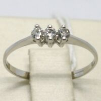Anillo de Oro Blanco 750 18Ct, Trilogy con Diamante Quilates 0.15 ,