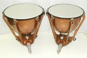 "Ludwig Timpani Drums 26 and 29"" New Remo Heads with Gauges Tympani"