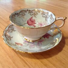 Vintage Paragon Bone China Floral Design with Gilt Cup and Saucer
