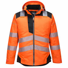Portwest Hi Vis Winter Jacket Waterproof Reflective Safety Workwear Warm Quilted