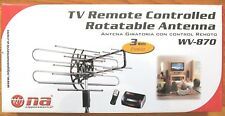 HDTV 1080p Indoor/Outdoor VHF/UHF Remote Controlled Rotatable Amplified Antenna