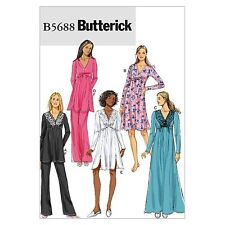 Butterick Patterns B5688 Misses' Top, Gown and Pants, Size ZZ (LRG-XLG-XXL)