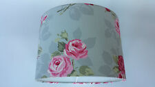 LAMPSHADE MADE FROM Clarke and Clarke  FABRIC(Nancy Rose Grey ).