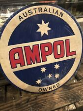 Ampol Southern Cross Embossed Repro Metal Sign