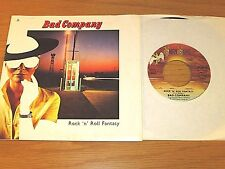 """70's ROCK 45 RPM/PICTURE SLEEVE - BAD COMPANY - SWAN SONG 70119 - """"R&R FANTASY"""""""