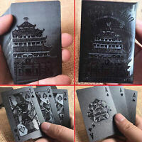 Waterproof Playing Cards Collection Frosting Black Diamond Poker Cards Set Gifts
