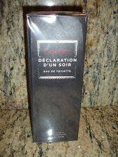 Cartier Declaration D'un Soir 3.4oz Eau de Toilette Spray Cologne Authentic NIB