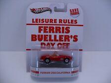 2013 Hot Wheels Retro Ferris Bueller's Day Off 1961 Red Ferrari 250 California