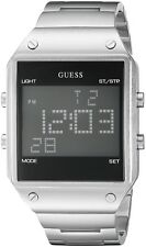 GUESS Men's U0596G1 Digital Alarm, Dual Time Zone & Chronograph / Stop Watch